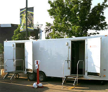 Air Conditioned or Heated Restroom Trailers